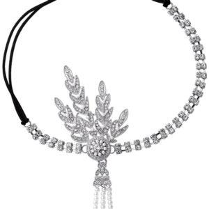 Bandeau Strass, Argent et perles style années 20