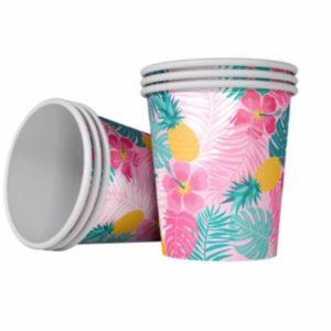 Goblets en papier Hawaï