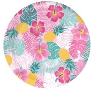 Grande assiette en papier Hawaï
